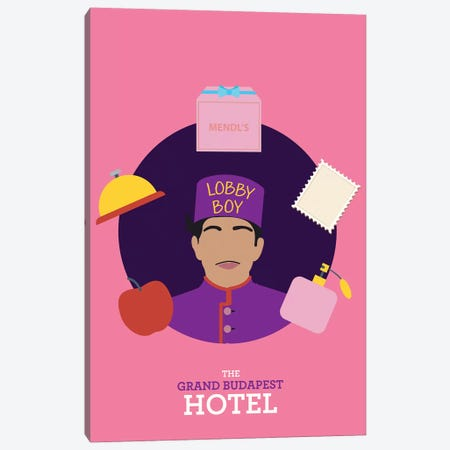 The Grand Budapest Hotel Minimalist Poster II Canvas Print #PTE162} by Popate Canvas Art Print