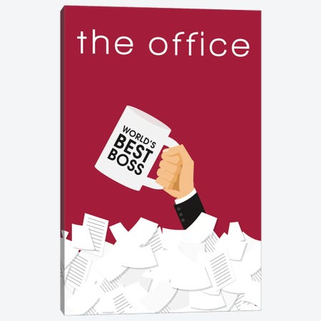 The Office Minimalist Poster  Canvas Print #PTE164} by Popate Canvas Artwork