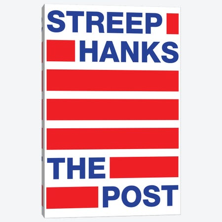 The Post Minimalist Poster II Canvas Print #PTE165} by Popate Canvas Wall Art