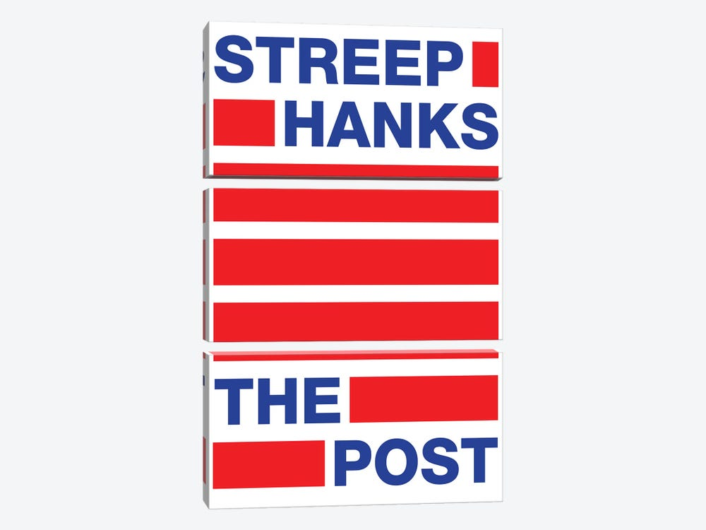 The Post Minimalist Poster II by Popate 3-piece Canvas Wall Art