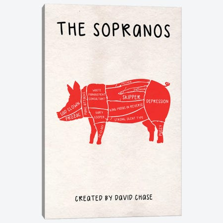 The Sopranos Minimalist Poster III Canvas Print #PTE166} by Popate Canvas Wall Art