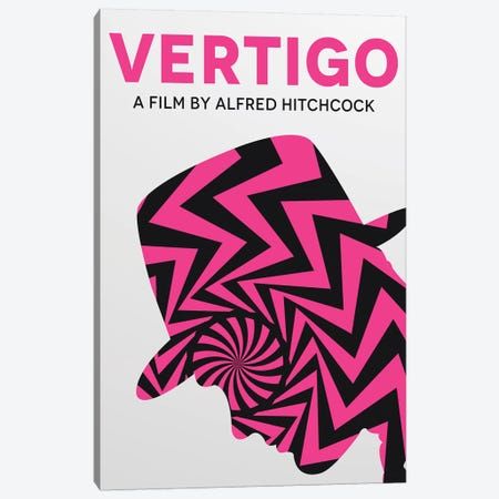 Vertigo Minimalist Poster  Canvas Print #PTE167} by Popate Canvas Art
