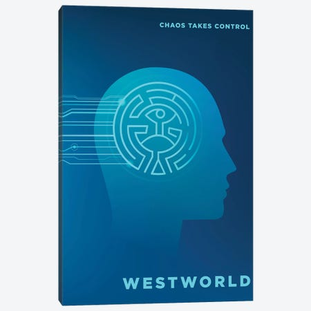 Westworld Alternative Poster Canvas Print #PTE168} by Popate Art Print