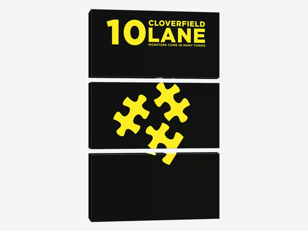 10 Cloverfield Lane Minimalist Poster  by Popate 3-piece Canvas Wall Art