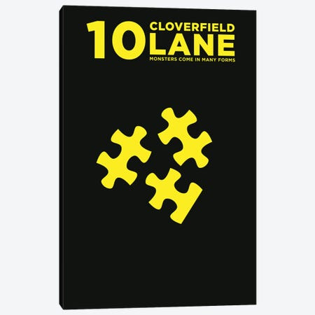 10 Cloverfield Lane Minimalist Poster  Canvas Print #PTE169} by Popate Art Print
