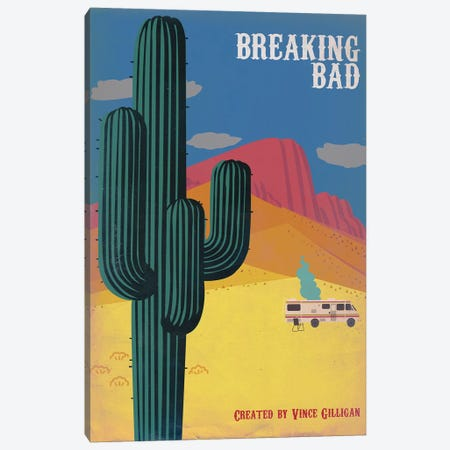 Breaking Bad Vintage Style Poster Canvas Print #PTE16} by Popate Canvas Artwork