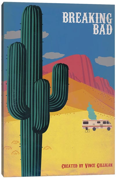 Breaking Bad Vintage Style Poster Canvas Art Print