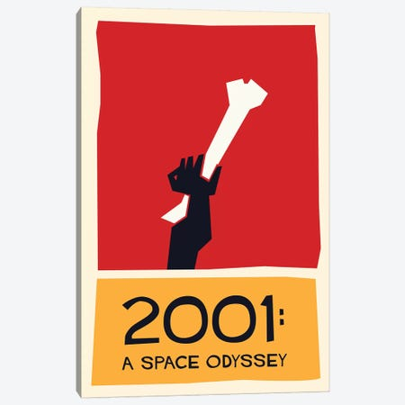 2001 A Space Odyssey Vintage Saul Bass Poster  Canvas Print #PTE170} by Popate Canvas Art