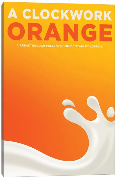 A Clockwork Orange Alternative Poster - Drink Moloko  Canvas Art Print