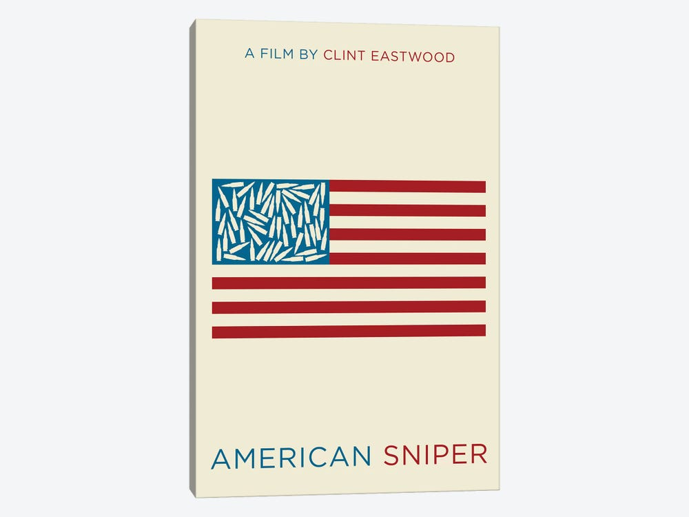 American Sniper Minimalist Poster  by Popate 1-piece Canvas Artwork