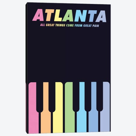 Atlanta Minimalist Poster - Teddy Perkins  Canvas Print #PTE173} by Popate Canvas Art