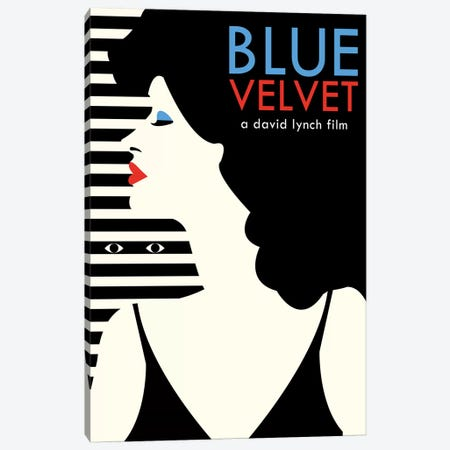 Blue Velvet Minimalist Poster - Dorothy  Canvas Print #PTE174} by Popate Canvas Print