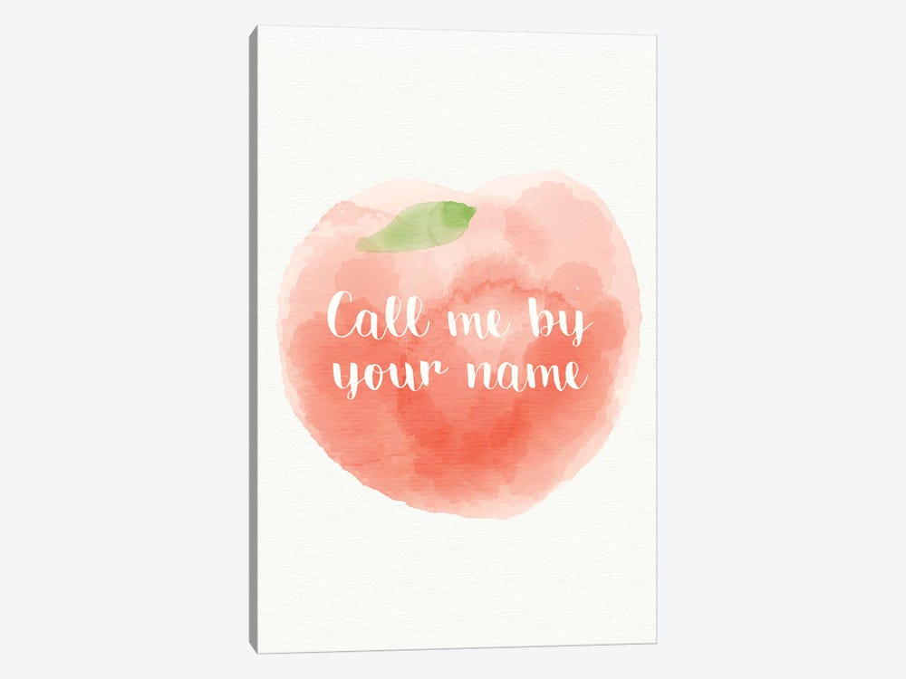 Call Me By Your Name Minimalist Poster Peach Canva Popate