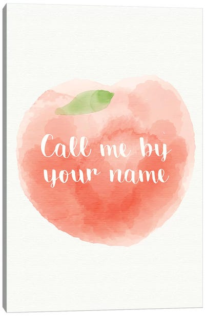 Call Me By Your Name Minimalist Poster - Peach  Canvas Art Print