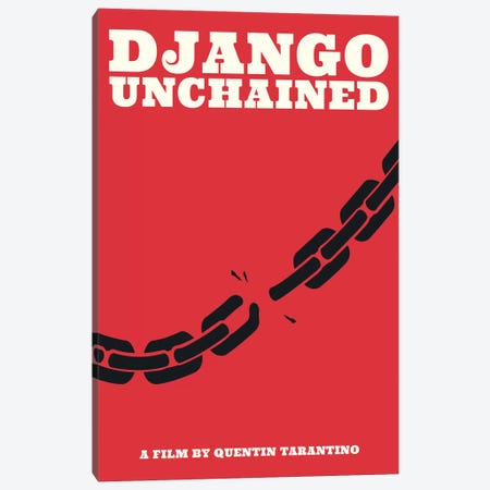 Django Unchained Minimalist Poster - Juneteenth  Canvas Print #PTE178} by Popate Canvas Artwork