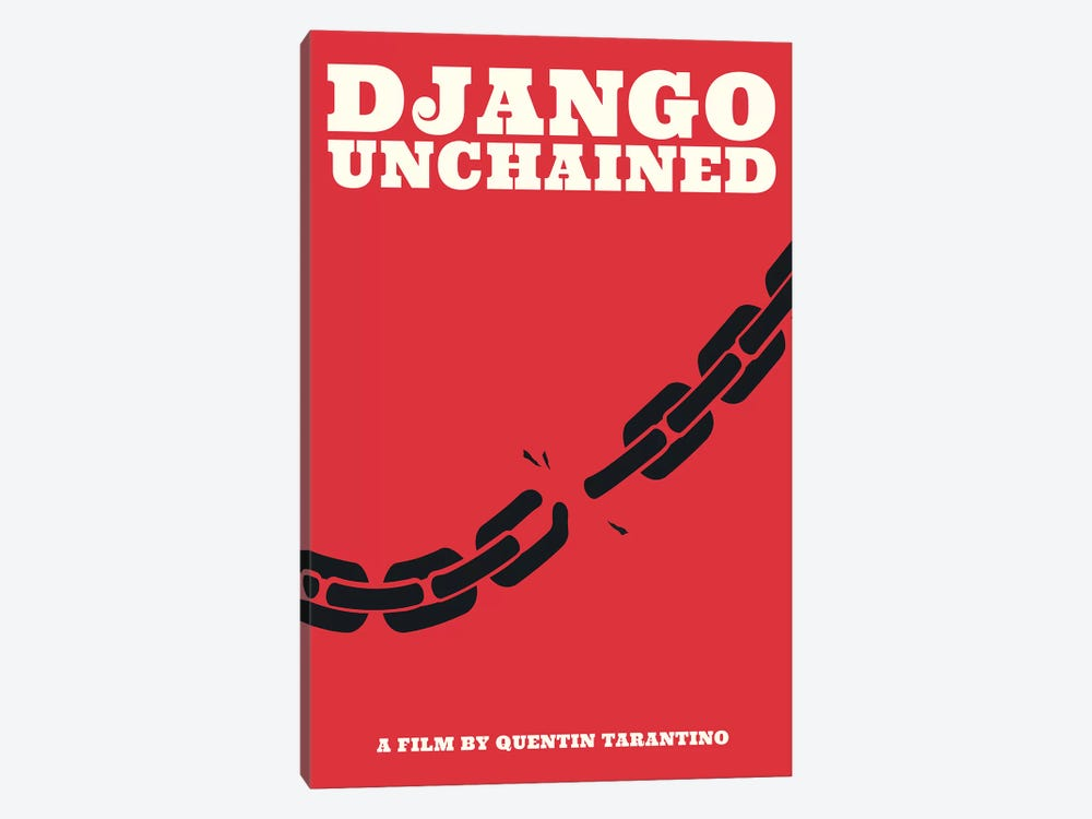 Django Unchained Minimalist Poster - Juneteenth  by Popate 1-piece Canvas Wall Art