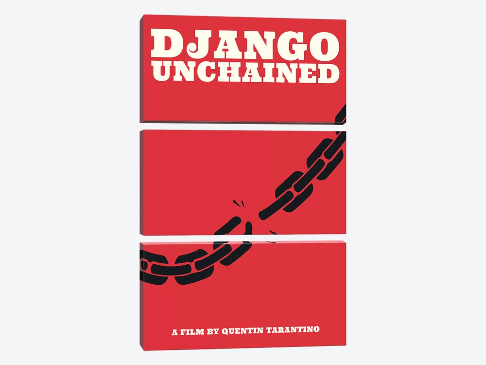 Django Unchained Minimalist Poster - Juneteenth  by Popate 3-piece Canvas Wall Art