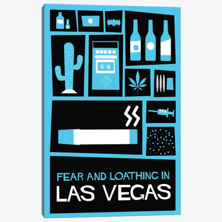 Fear and Loathing in Las Vegas Vintage Saul Bass Poster  Canvas Print #PTE179} by Popate Canvas Wall Art