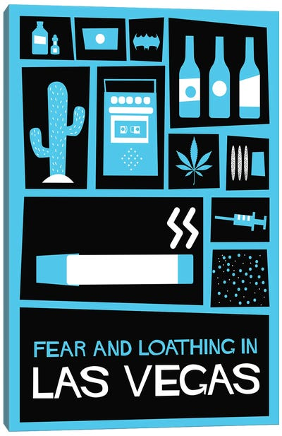 Fear and Loathing in Las Vegas Vintage Saul Bass Poster  Canvas Art Print