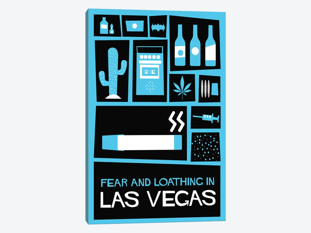 Fear and Loathing in Las Vegas Vintage Saul Bass Poster  by Popate 1-piece Art Print