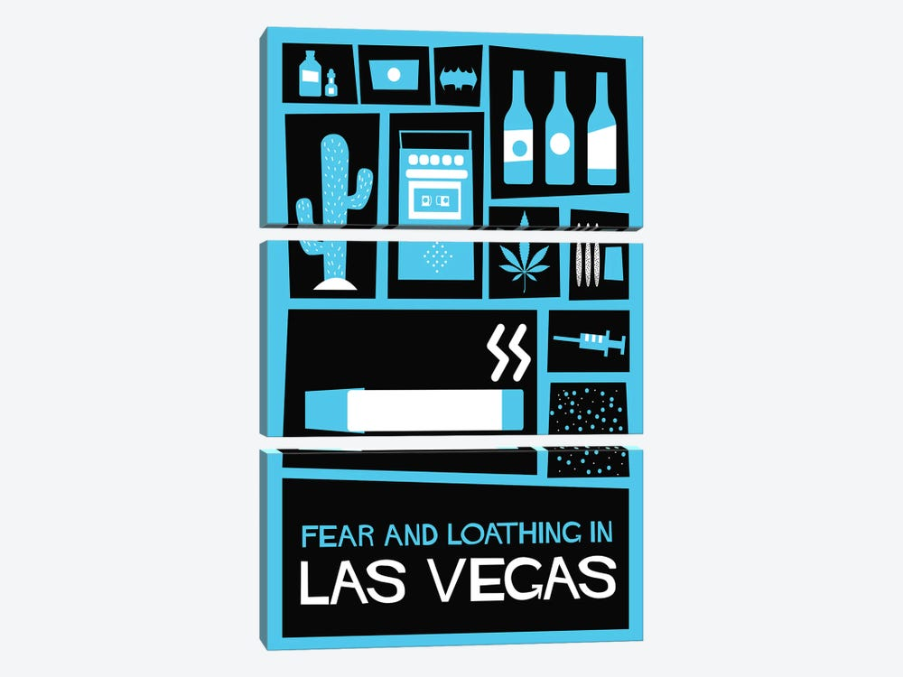 Fear and Loathing in Las Vegas Vintage Saul Bass Poster  by Popate 3-piece Canvas Print