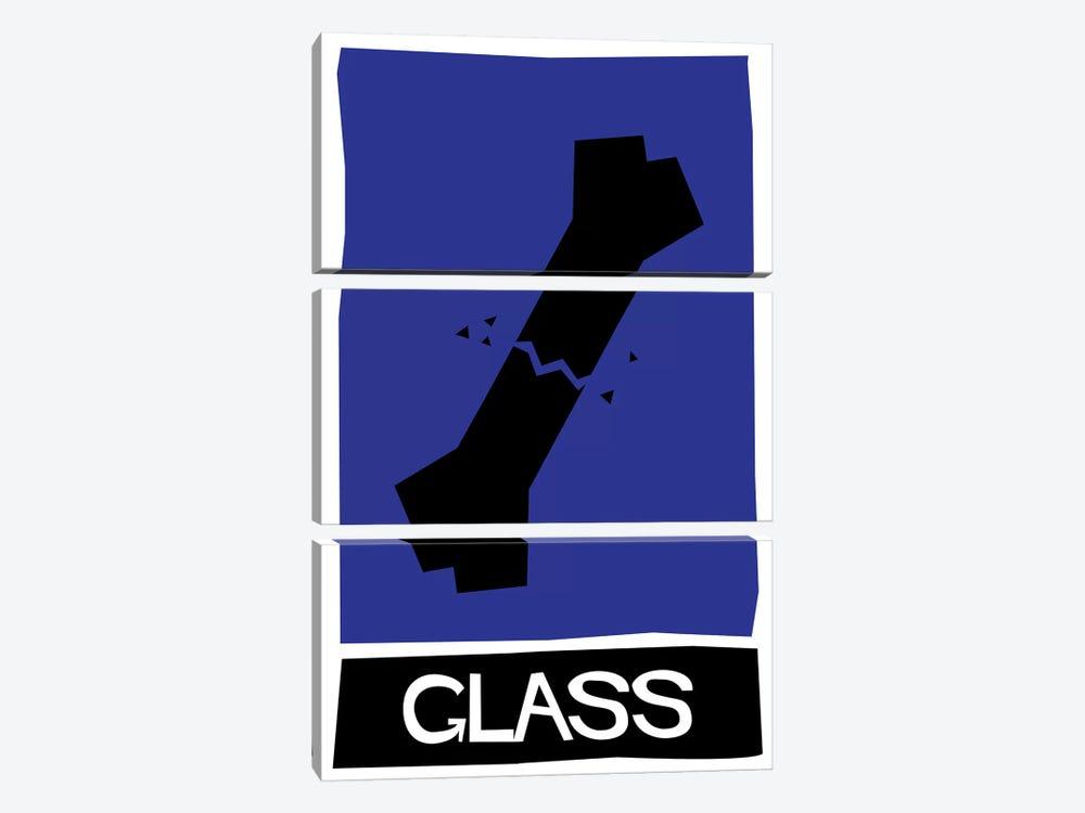 Glass Alternative Vintage Saul Bass Poster  by Popate 3-piece Canvas Print