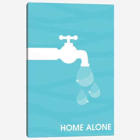 Home Alone Minimalist Poster  - The Wet Bandits 3-Piece Canvas #PTE182} by Popate Canvas Print