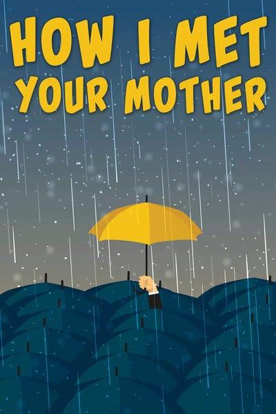 How I Met Your Mother Minimalist Poster Umbrella Mi
