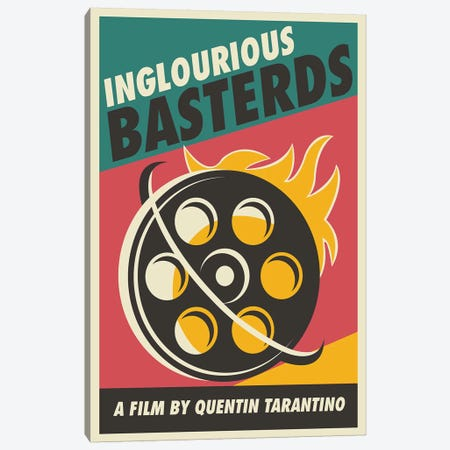 Inglourious Basterds Vintage Poster - Film  Canvas Print #PTE185} by Popate Canvas Wall Art