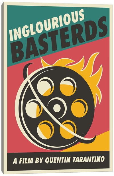 Inglourious Basterds Vintage Poster - Film  Canvas Art Print