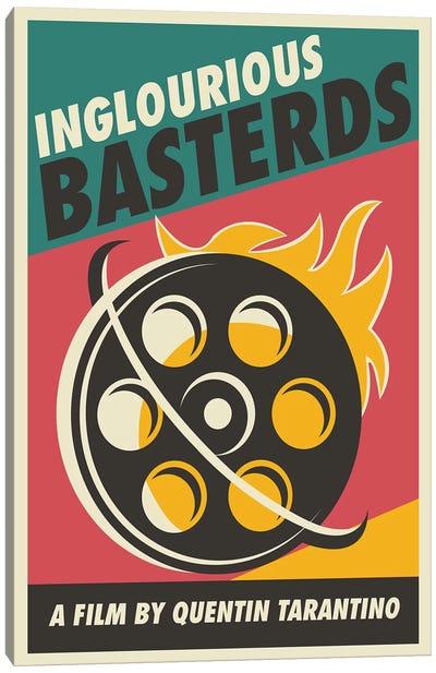 Inglourious Basterds Vintage Poster - Film  Canvas Art Print