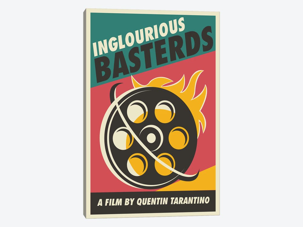 Inglourious Basterds Vintage Poster - Film  by Popate 1-piece Canvas Artwork
