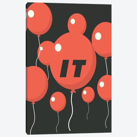 It Minimalist Poster - Balloon Float  Canvas Print #PTE186} by Popate Canvas Artwork