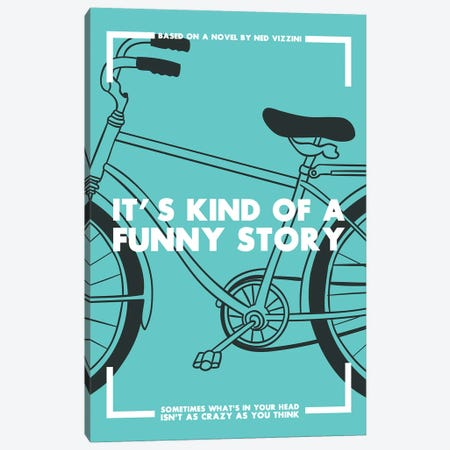 Its Kind of a Funny Story Vintage Poster  Canvas Print #PTE187} by Popate Canvas Wall Art