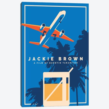 Jackie Brown Alternative Poster  Canvas Print #PTE188} by Popate Art Print