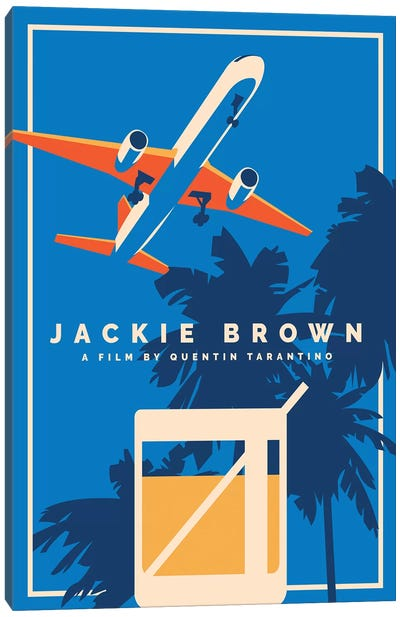 Jackie Brown Alternative Poster  Canvas Art Print