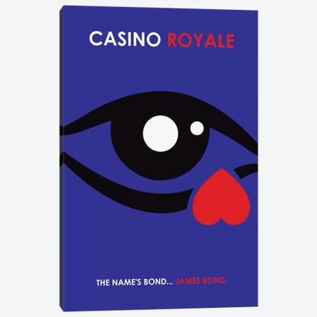 Casino Royale Minimalist Poster Canvas Print #PTE18} by Popate Canvas Art Print