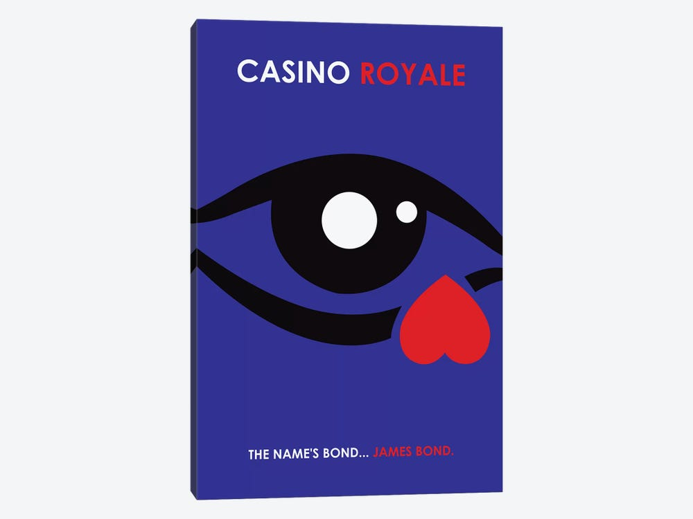 Casino Royale Minimalist Poster by Popate 1-piece Art Print