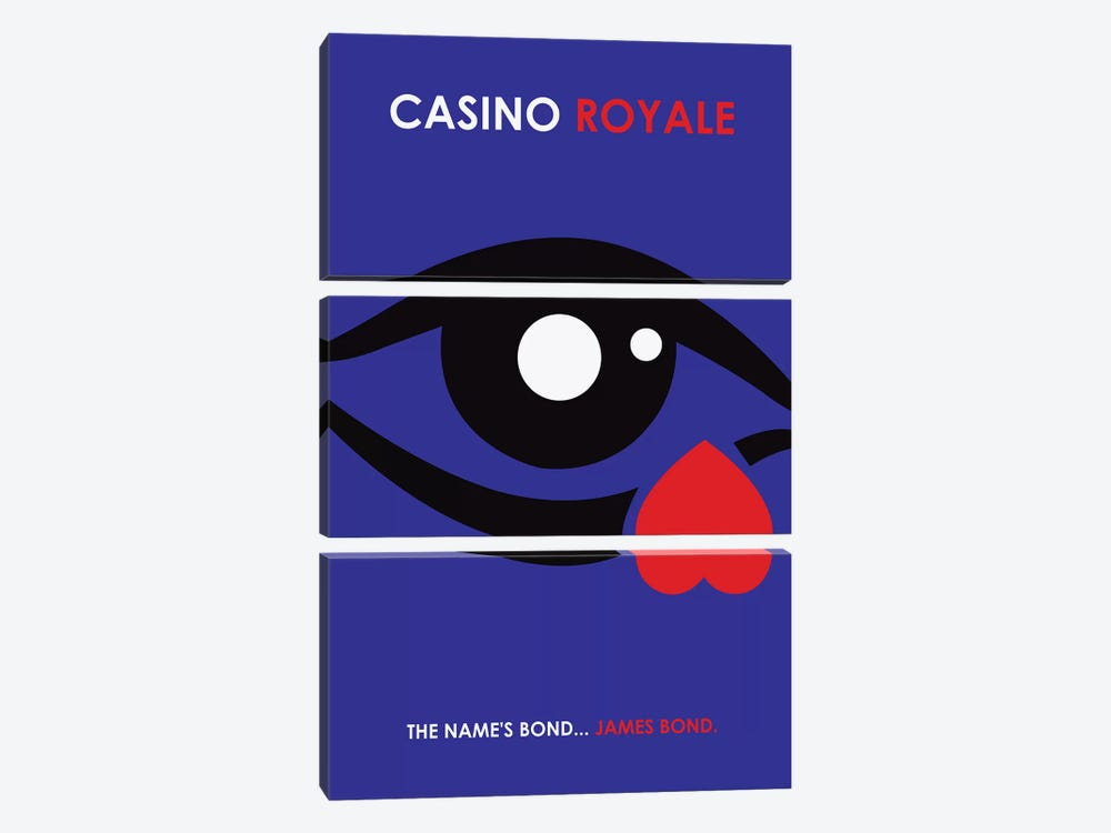 Casino Royale Minimalist Poster by Popate 3-piece Canvas Print
