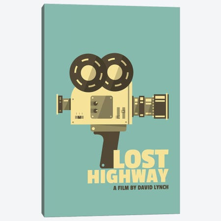 Lost Highway Alternative Vintage Poster  Canvas Print #PTE190} by Popate Canvas Art