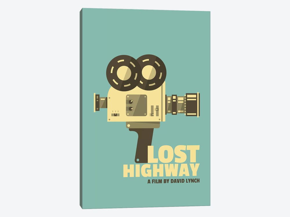 Lost Highway Alternative Vintage Poster  by Popate 1-piece Canvas Artwork