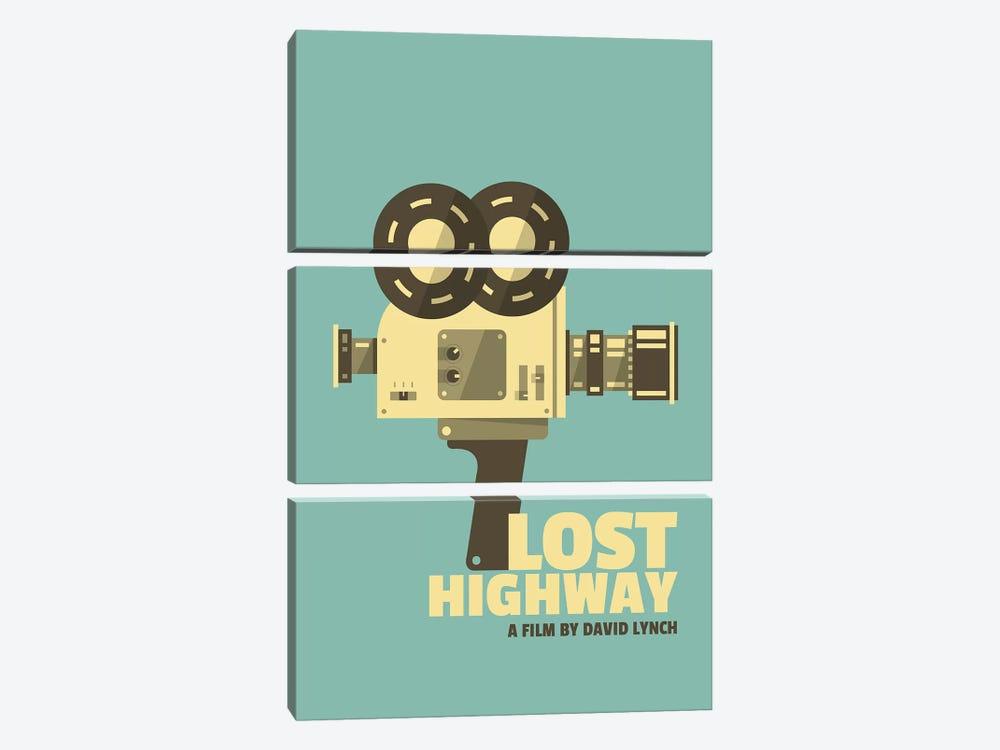 Lost Highway Alternative Vintage Poster  by Popate 3-piece Canvas Artwork