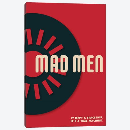 Mad Men Vintage Bauhaus Poster  Canvas Print #PTE191} by Popate Canvas Wall Art