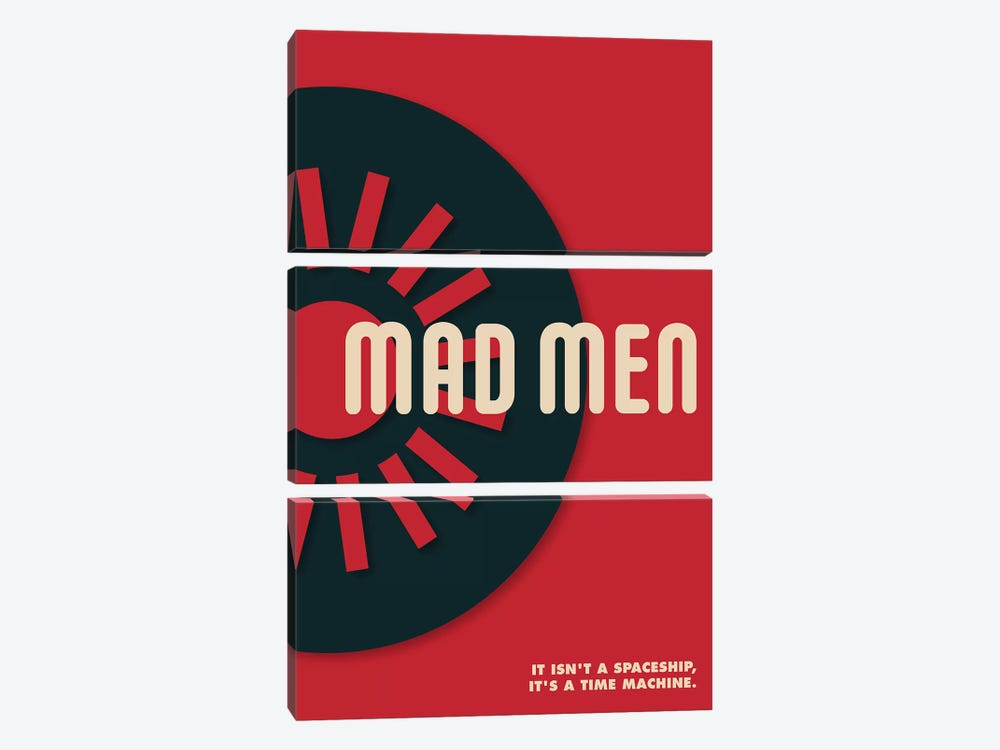 Mad Men Vintage Bauhaus Poster  by Popate 3-piece Canvas Art Print