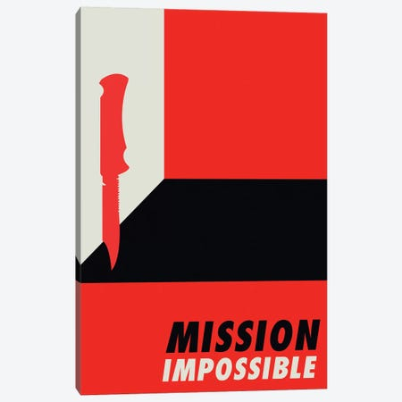 Mission Impossible Vintage Bauhaus Poster  Canvas Print #PTE192} by Popate Canvas Art