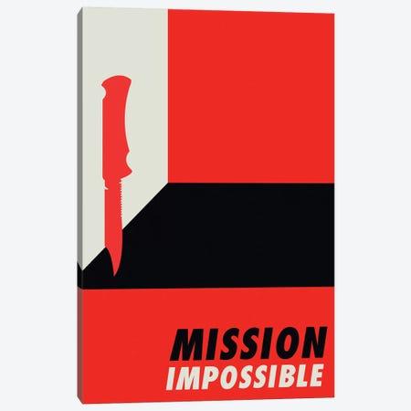 Mission Impossible Vintage Bauhaus Poster  Canvas Print #PTE192} by Popate Canvas Art