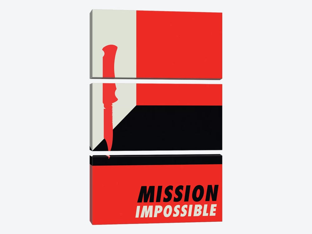 Mission Impossible Vintage Bauhaus Poster  by Popate 3-piece Canvas Wall Art