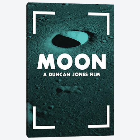 Moon Alternative Poster  Canvas Print #PTE193} by Popate Canvas Artwork