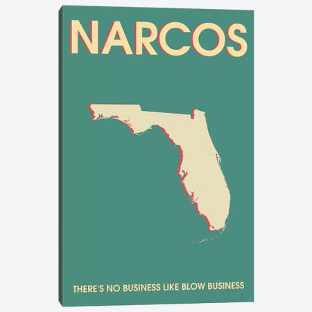 Narcos Minimalist Poster  Canvas Print #PTE195} by Popate Canvas Art Print