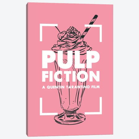 Pulp Fiction Vintage Poster  Canvas Print #PTE198} by Popate Canvas Wall Art